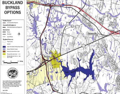 Buckland Bypass map