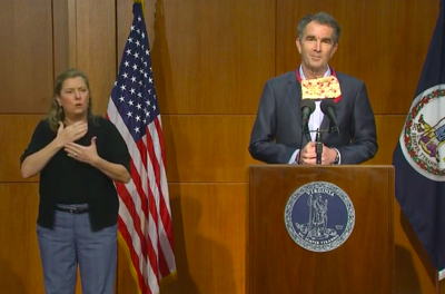 Gov. Ralph Northam during Friday, May 22, press conference