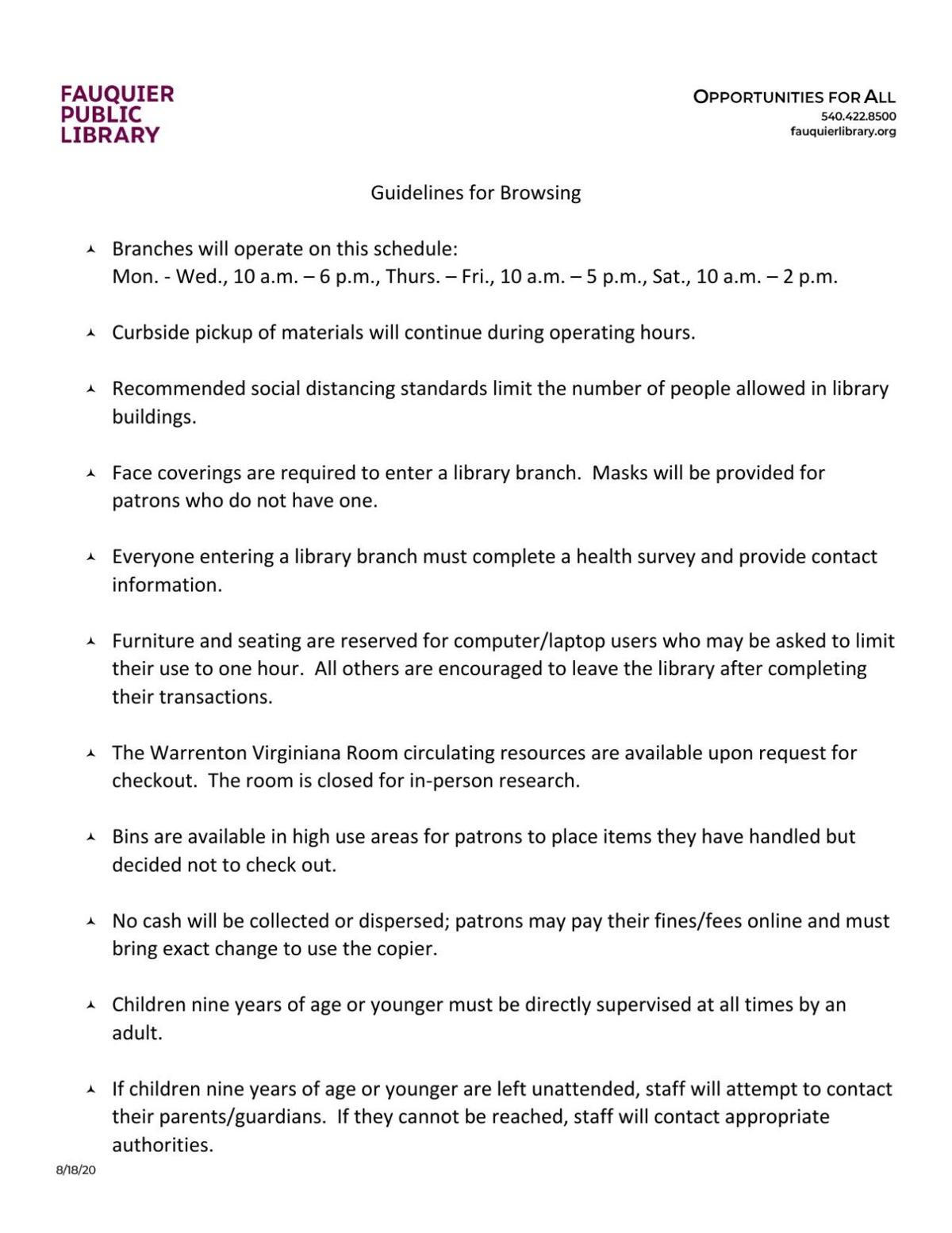2020_08_21 FCPL reopening guidelines