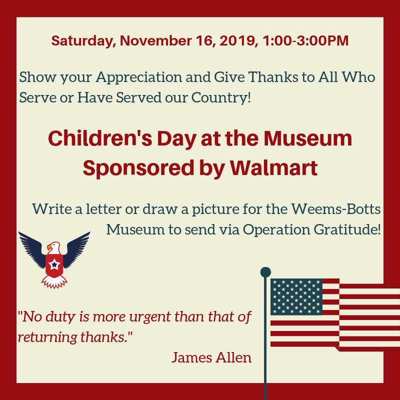 Children's Day: Operation Gratitude