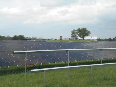 Solar panels take root in field