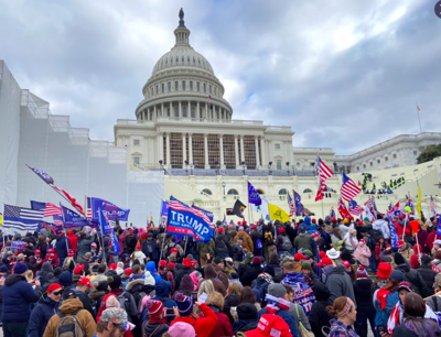 Protesters at the U.S. Capitol building Jan. 6