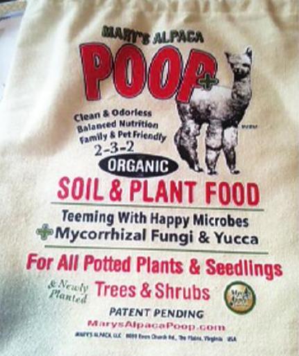 Alpaca poop