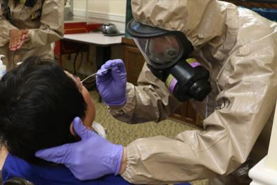 US national guard COVID-19 testing in nursing home
