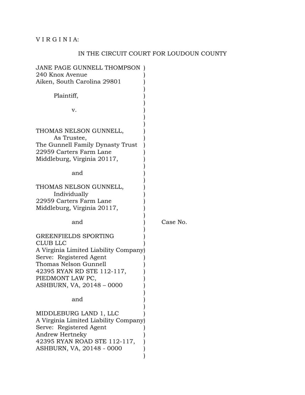 Thompson lawsuit Banbury Cross 20200727