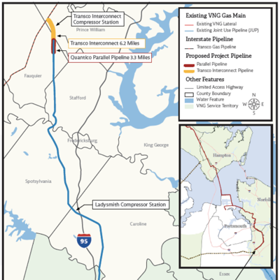 Virginia Natural Gas pipeline through prince william and Fauquier