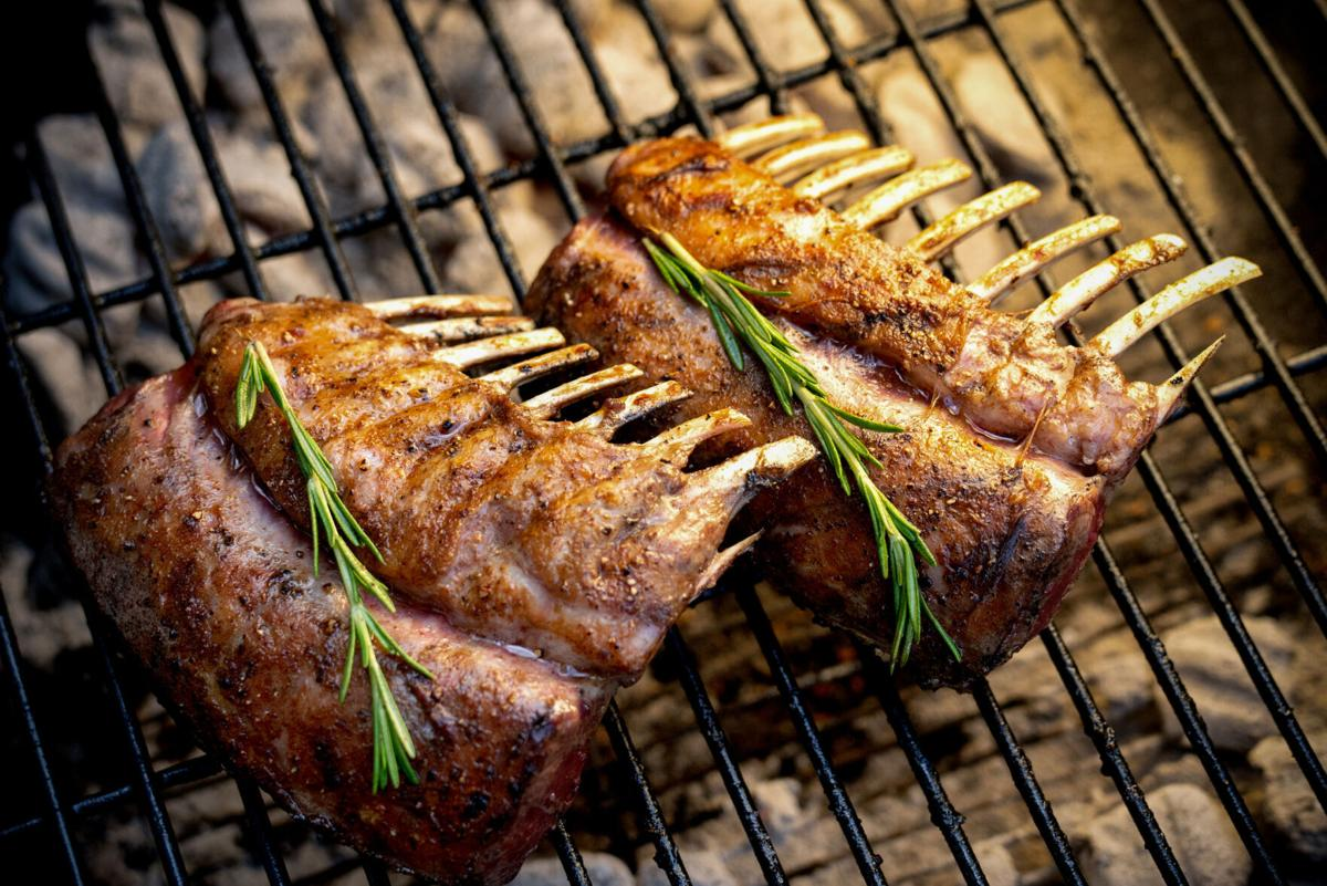 Charcoal Grilled French Lamb Chops With Rosemary