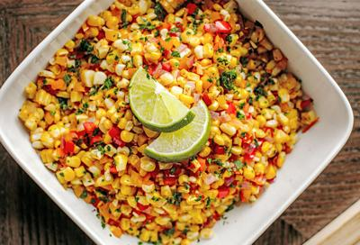 Vegan sauteed corn