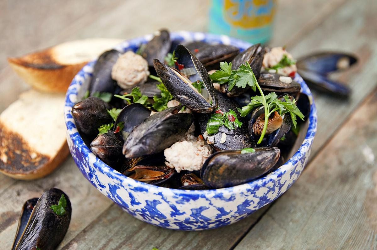 Sausage and mussels