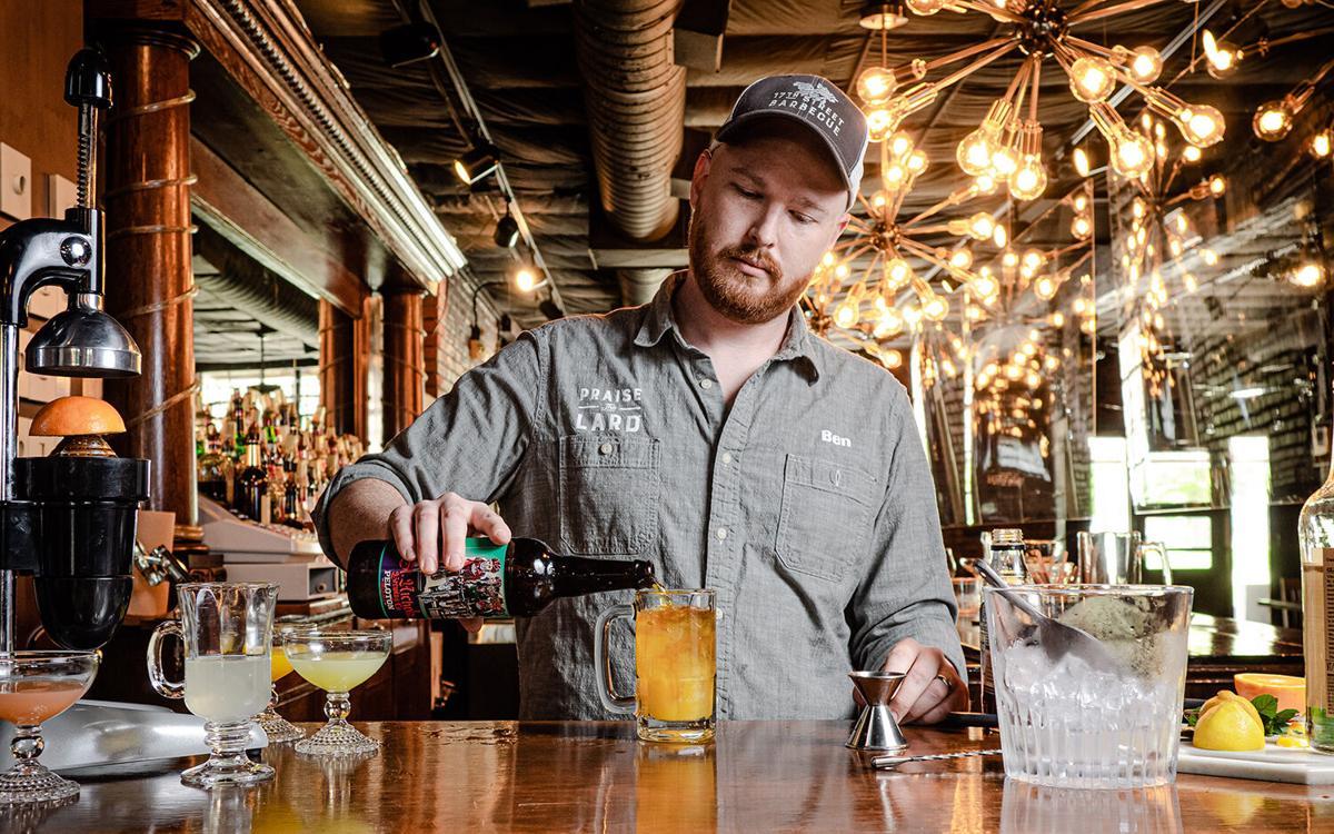 Bourbon maple fizz action