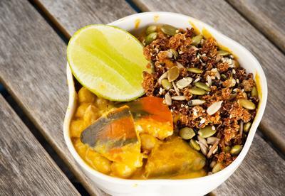 Pumpkin & chickpea curry