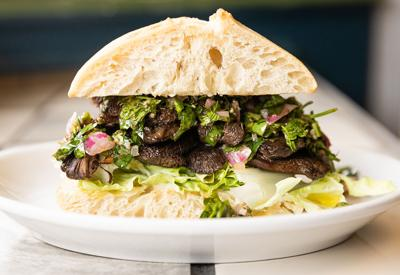 Chimichurri Mushroom Steak Sandwiches