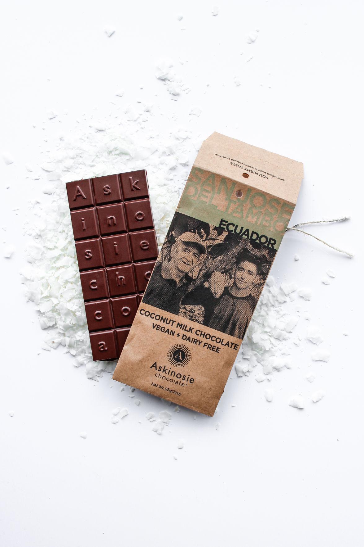 Askinosie Chocolate Coconut Milk Chocolate Bar