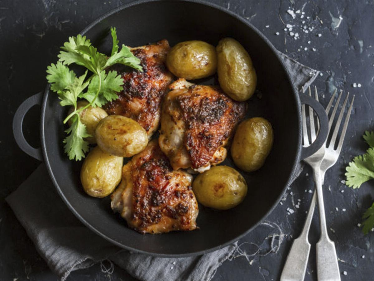 Spice Hunter One Pan Spicy Garlic Chicken and Potatoes