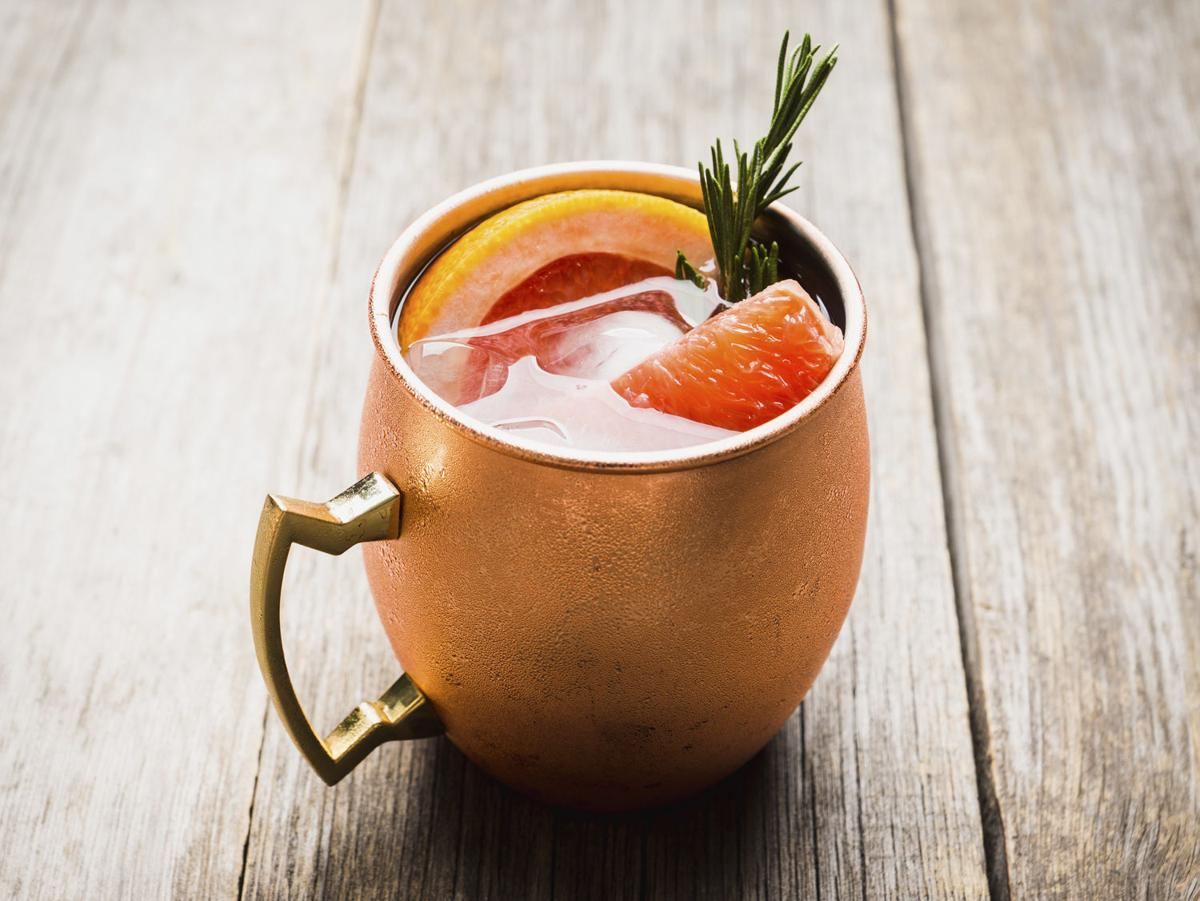 Rosemary-Grapefruit Mule