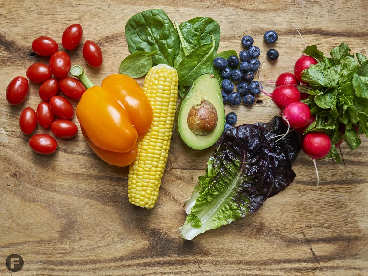 Rainbow Salad Ingredients