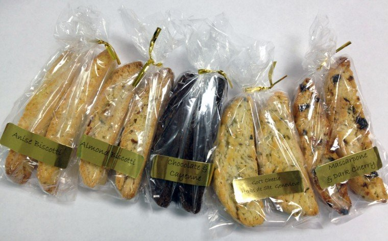 Cave Vineyard's new line of biscotti bars