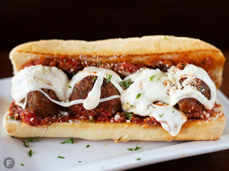 The Get Down Cheesy Meatball Sub