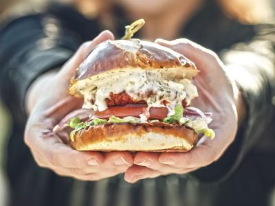 Trio Buffalo chicken sandwich