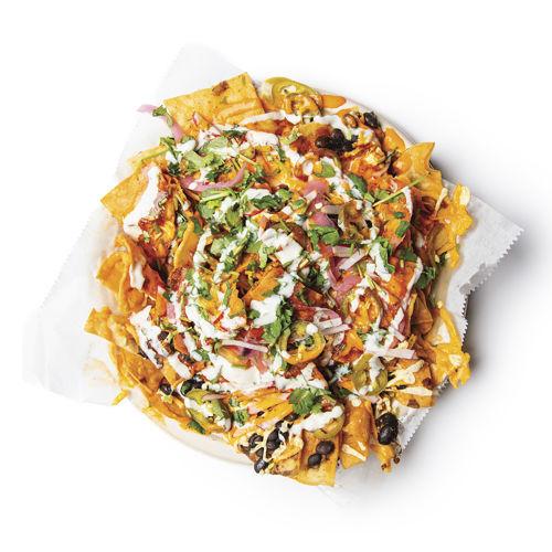 """Taqueria Vegana """"chorizo"""" nachos"""