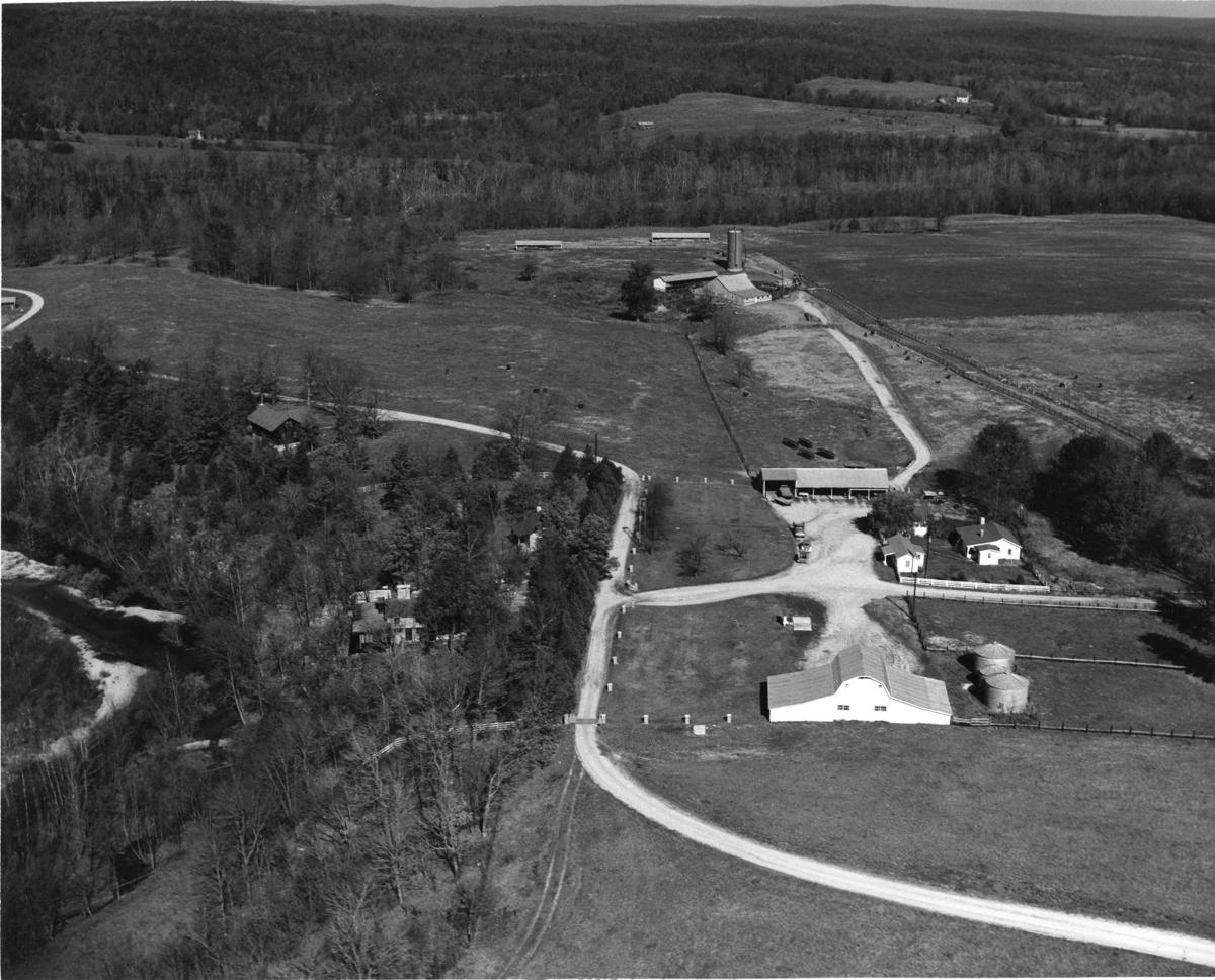 Edg-Clif Farms & Vineyard 1960 Aerial View