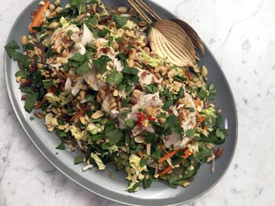 Vietnamese-Style Chicken Salad with Fresh Herbs and Chiles