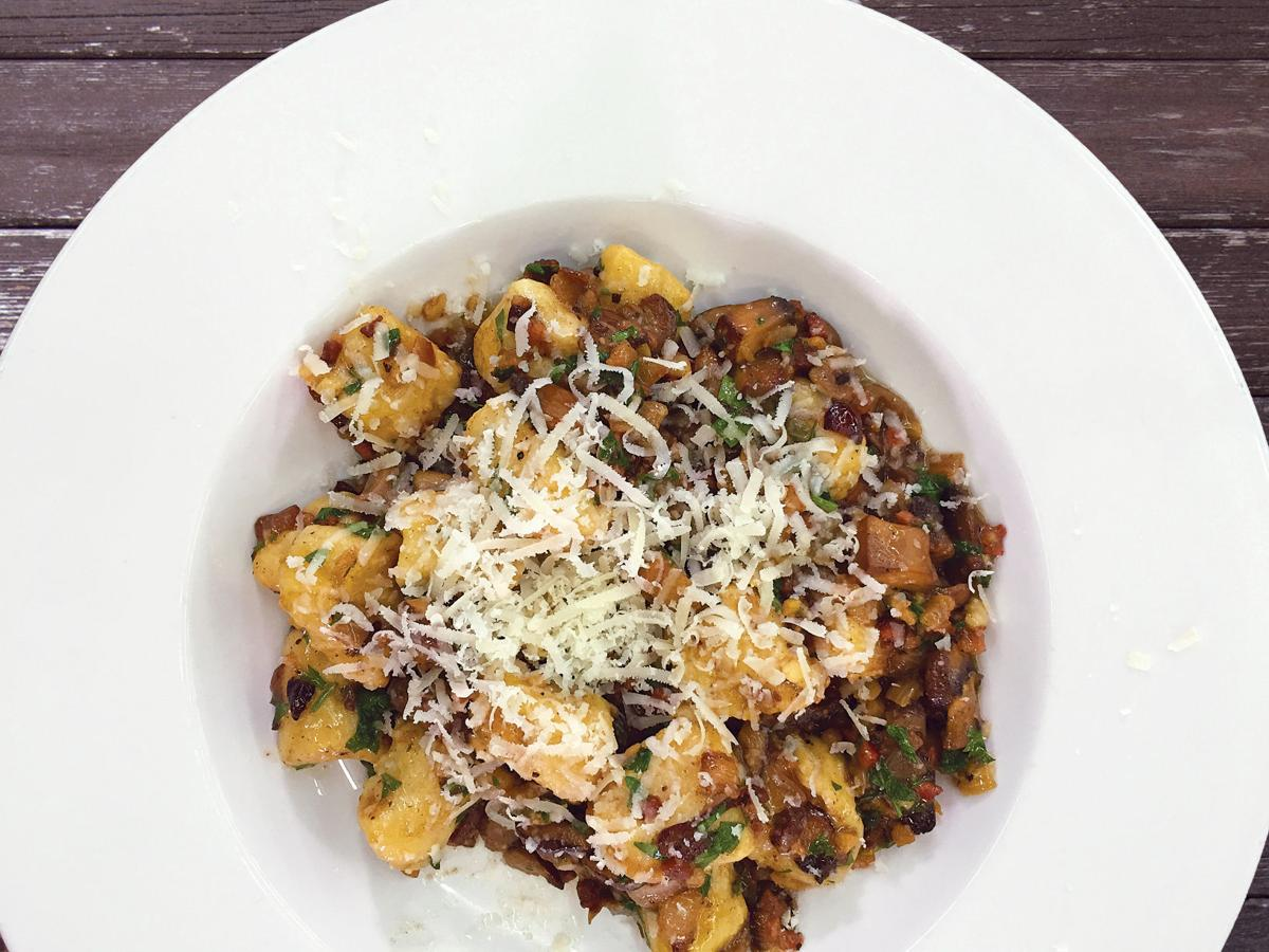 Gnocchi with Caramelized Mushrooms and Volpi Pancetta Sauce