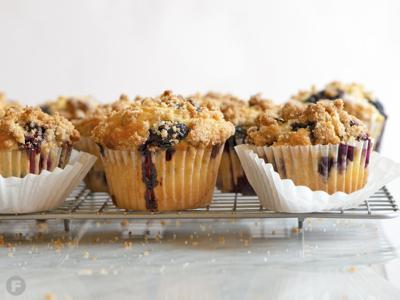 Blueberry Almond Crumble Muffins