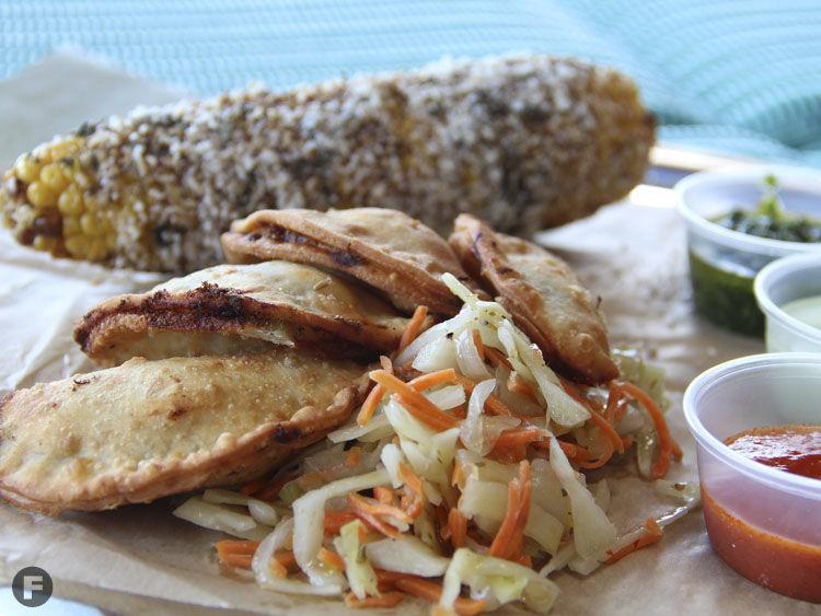 Parlor Karbon Pork Empanadas with Turkish Elotes