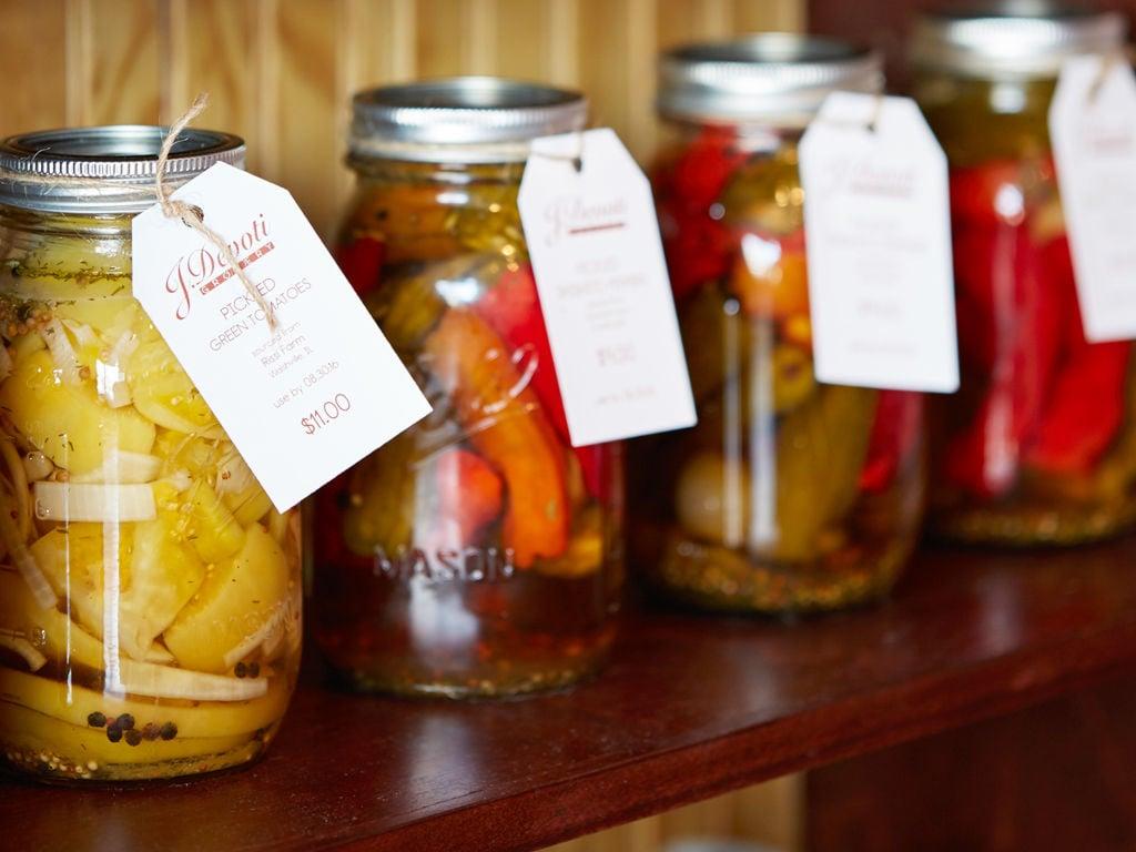 J. Devoti Grocery Pickles Sauces Jelly