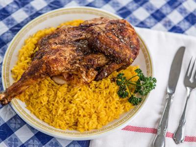 Greekfest chicken plate