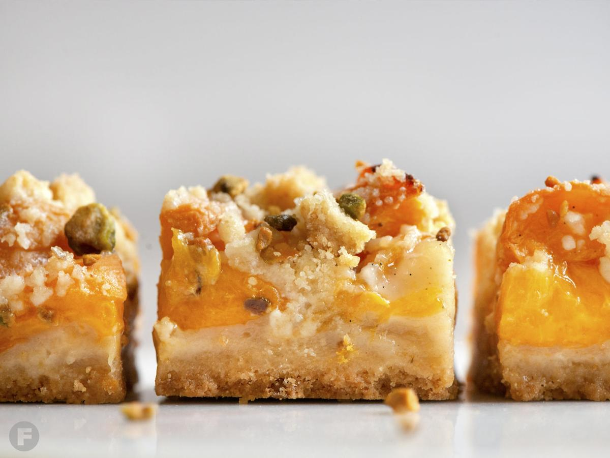 Roasted Apricot & Pistachio Squares - Side Angle