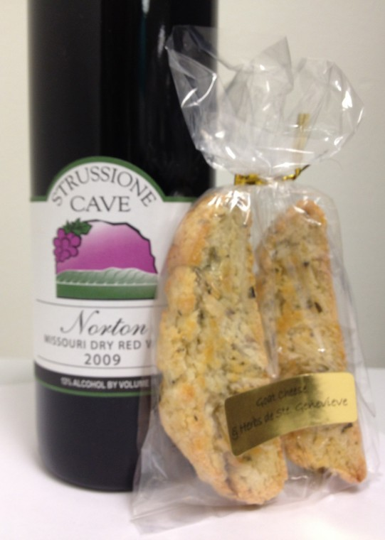Cave Vineyard's biscotti bars