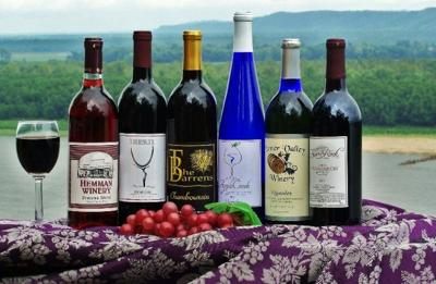 Wines from wineries within The Mississippi River Hills Wine Trail