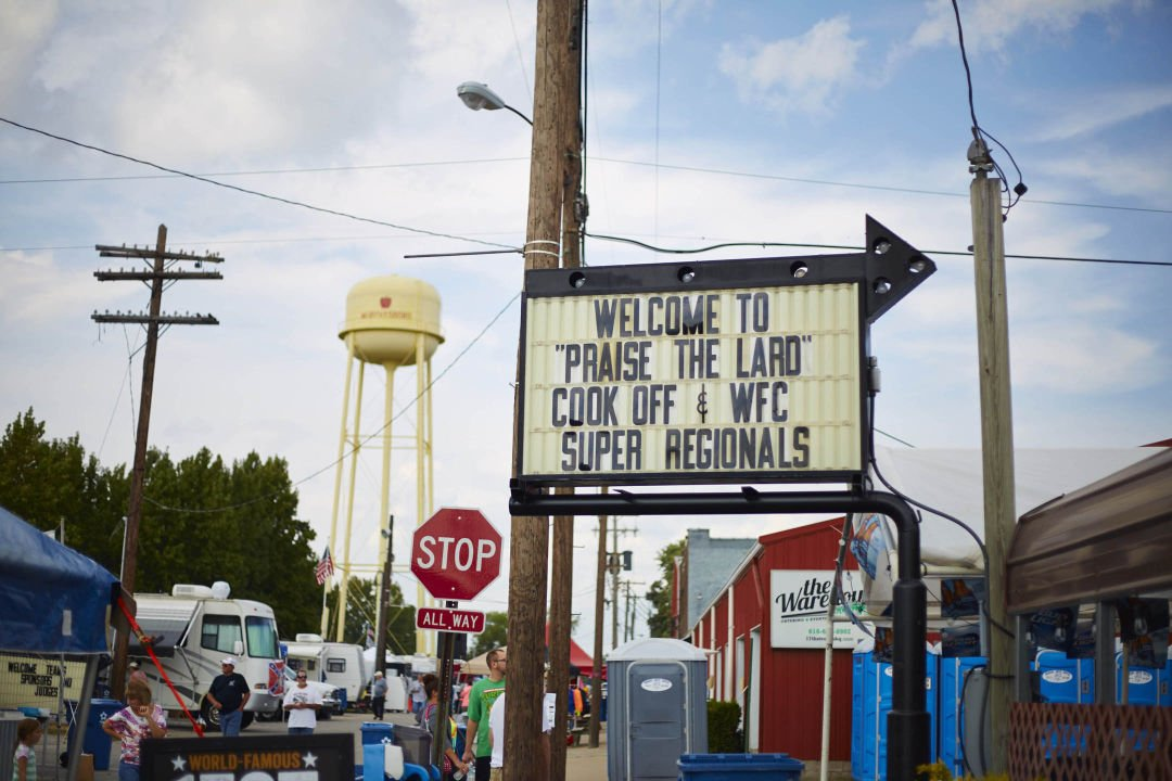 Praise the Lard Murphysboro Barbecue Cook-Off: Welcome Sign