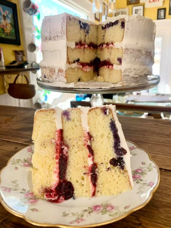 The Little Clay House Blueberry Cake