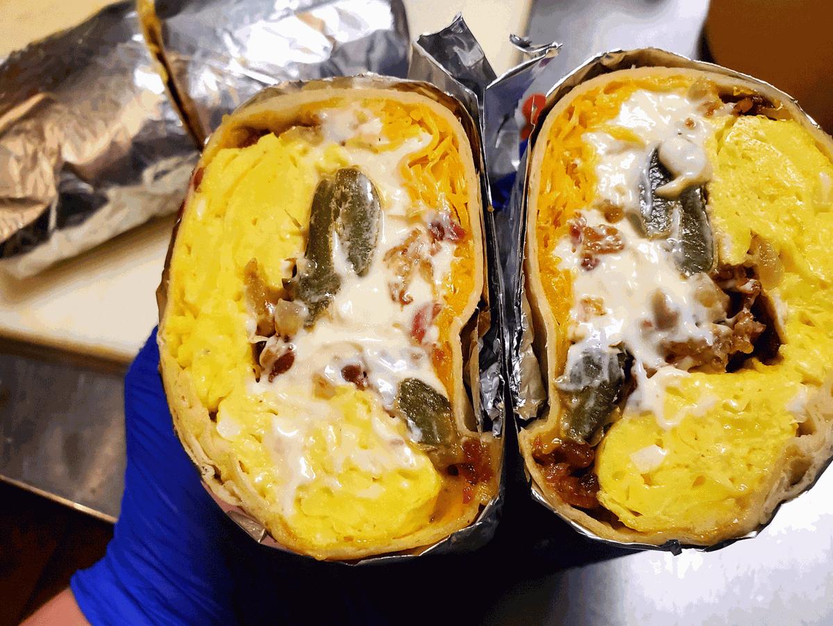 Jalapeño Popper Burrito from La Chica Loca