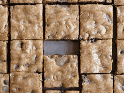 Dark & Milk Chocolate-Cashew Blondies