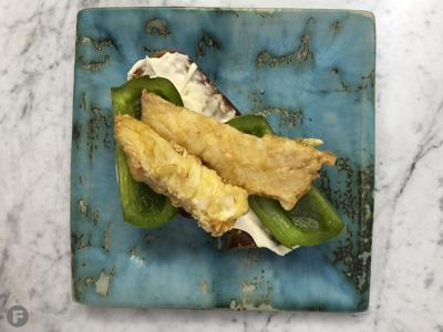 Cod and Green Pepper Sandwiches