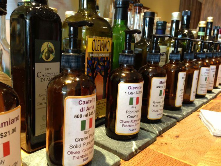 Extra Virgin's olive oil tasting bar