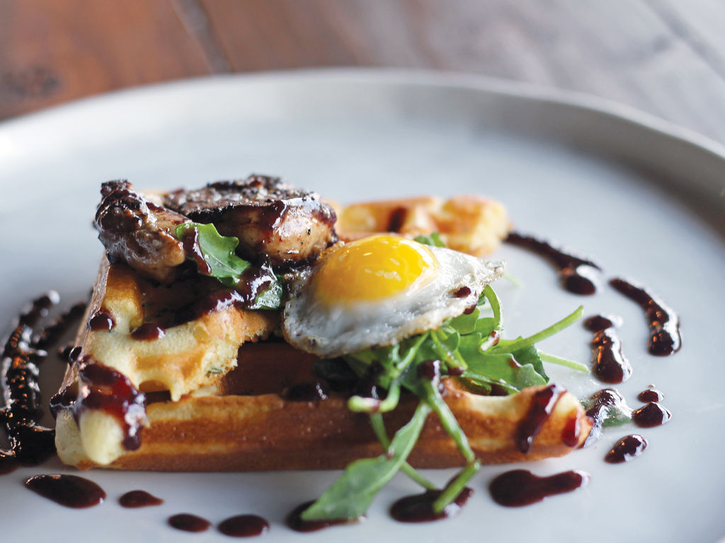 The Muddled Pig Gastropub Foie n Waffles