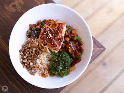 The Rock Fit Bowl with Salmon