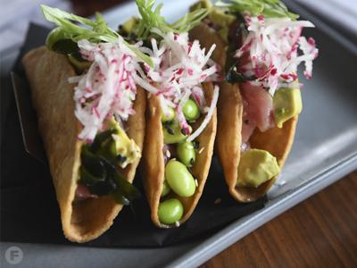 Pearl Tavern Poke Tacos