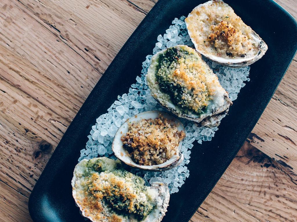Olive + Oak Oysters Rockefeller