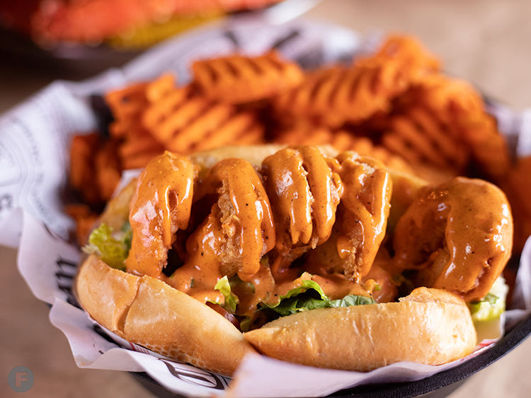 Hook and Reel po'boy