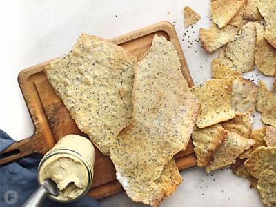 Semolina Flatbread Crackers
