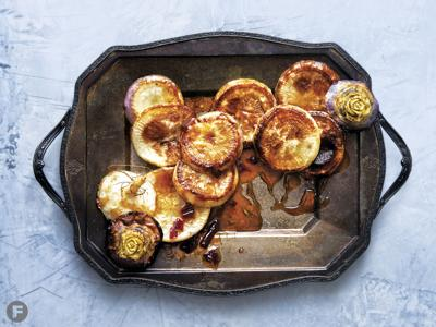 Cascara-Glazed Turnips with Rosemary and Chile