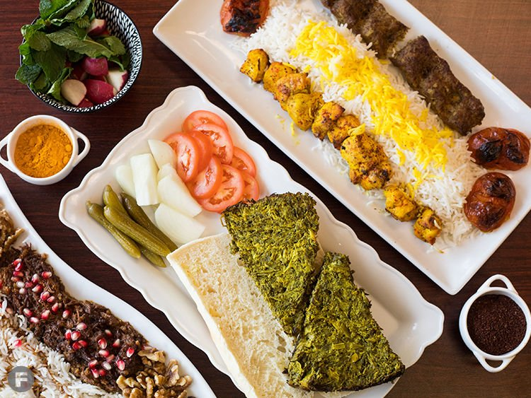 Esther's Persian Cafe Dishes