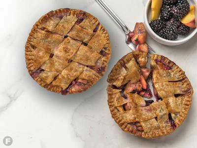 Peach and Blackberry Mini Pies