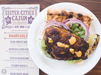 Sister Cities Cajun Catfish Po'Boy